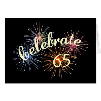 de 65ste Viering van de Verjaardag Kaart