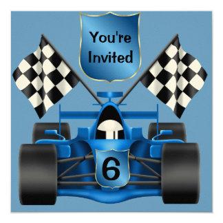de 6de Uitnodiging van de Raceauto van de