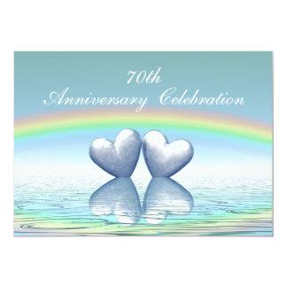 de 70ste Harten van het Platina van het Jubileum 12,7x17,8 Uitnodiging Kaart