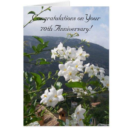 de 70ste Jasmijn van de Verjaardag van het Huwelij Wenskaarten