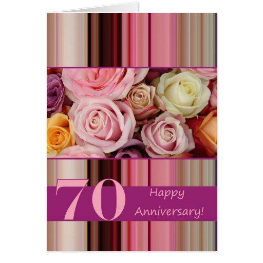 de 70ste Kaart van de Verjaardag van het Huwelijk