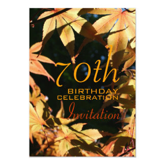 de 70ste Uitnodiging van de Douane van de Herfst