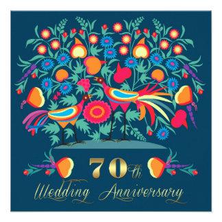 de 70ste Uitnodigingen van de Partij van de Verjaa