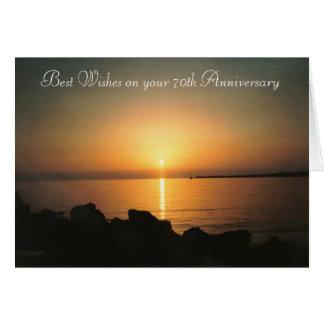 de 70ste Zonsondergang van de Kaart van de Verjaar