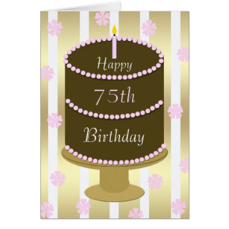 de 75ste Cake van de Kaart van de Verjaardag in
