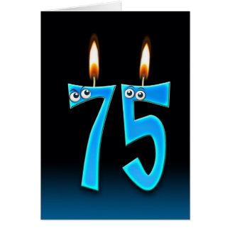 de 75ste Kaarsen van de Verjaardag Kaart