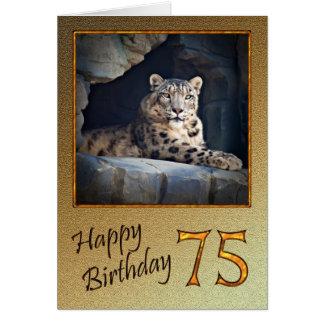 de 75ste Kaart van de Verjaardag met een