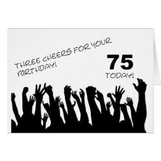 de 75ste kaart van de Verjaardag met het