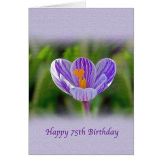 de 75ste Kaart van de Verjaardag met Paarse en