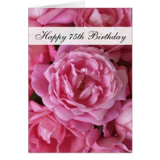 de 75ste Kaart van de Verjaardag - Rozen 75 Jaar