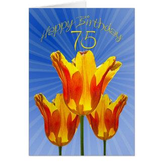 de 75ste kaart van de Verjaardag, tulpenhoogtepunt