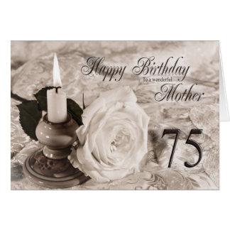 de 75ste kaart van de Verjaardag voor moeder, de