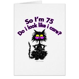 de 75ste Kat van de Verjaardag Briefkaarten 0