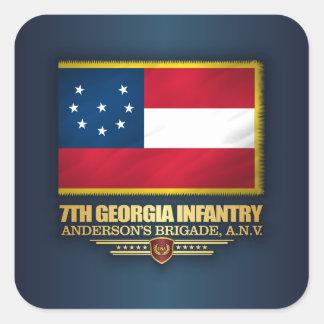 de 7de Infanterie van Georgië Vierkante Sticker