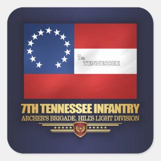 de 7de Infanterie van Tennessee Vierkante Sticker