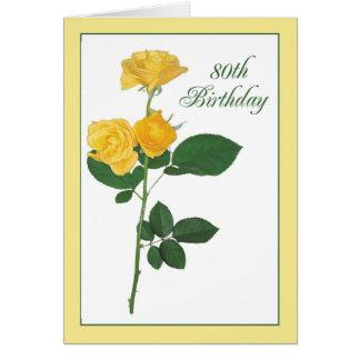 de 80ste Gele Verjaardag nam toe Kaart