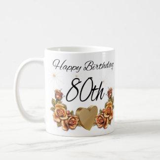 de 80ste Mok van de Gift van de Verjaardag, met de