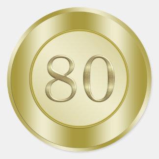 de 80ste Partij van de Verjaardag Ronde Sticker
