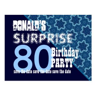 de 80ste Verjaardag van de Verrassing bewaart de Briefkaart