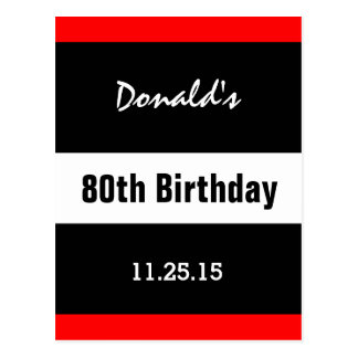 de 80ste Zwarte van de Verjaardag met de Rode Briefkaart