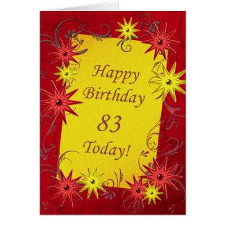 de 83ste kaart van de Verjaardag