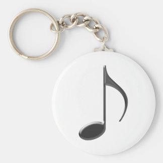 de 8ste Zwarte van de Nota van de Muziek Sleutelhanger