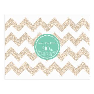 de 90ste Partij van de Verjaardag sparen de Datum Briefkaart