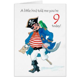 De 9de Verjaardag van de Piraat en van de Papegaai Kaart