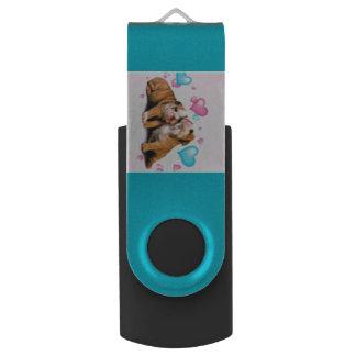 De Aandrijving van de Flits van de Kalverliefde Swivel USB 2.0 Stick