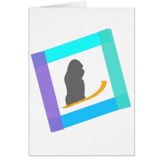 de aandrijving van de gorrilasneeuw briefkaarten 0