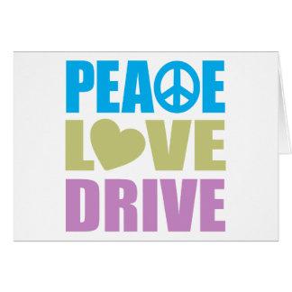 De Aandrijving van de Liefde van de vrede Wenskaart