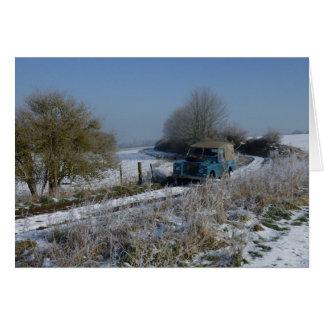 De Aandrijving van de winter Wenskaart