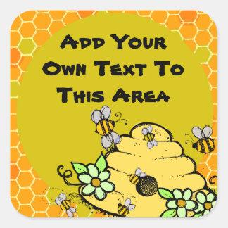 De aangepaste Bijenkorf en Sticker van Bijen
