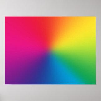De Aangepaste Sjabloon van de regenboog Gradiënt - Poster