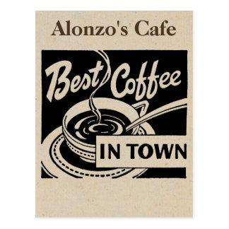 De aangepaste Winkel van de Koffie Briefkaart