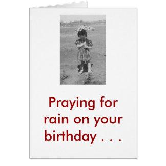 De Aangepaste Zegen van de verjaardag - Wenskaart