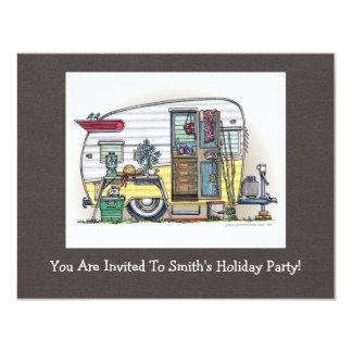 De Aanhangwagen rv van de Kampeerauto van Shasta 10,8x13,9 Uitnodiging Kaart