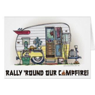 De Aanhangwagen rv van de Kampeerauto van Shasta Notitiekaart