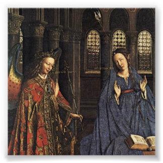 De aankondiging door Jan van Eyck Foto