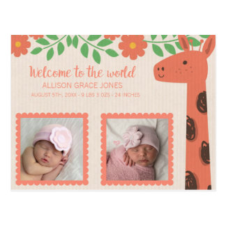 De Aankondiging van de Geboorte van het Baby van Briefkaart