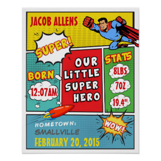 De Aankondiging van de Geboorte van Superhero - Poster