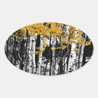 De Aanraking van de esp van Sinaasappel Ovaalvormige Sticker