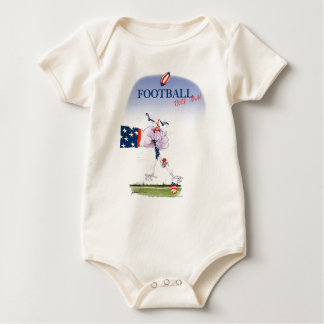 De aanraking van het football neer, tony fernandes baby shirt