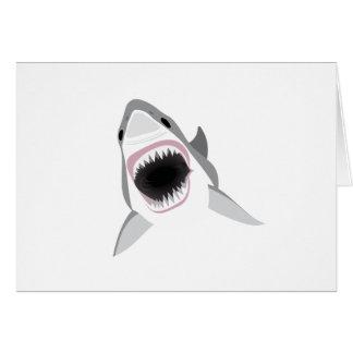 De Aanval van de haai - Beet van de Grote Witte Wenskaart