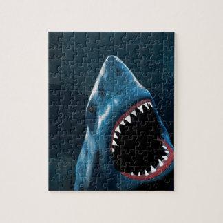 De aanval van de haai legpuzzel