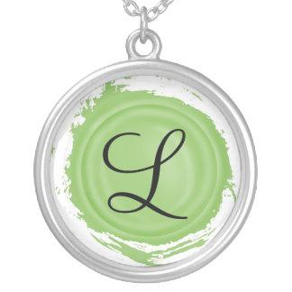 De Aanvankelijke Groene Halsband van de Zegel van Ketting Rond Hangertje