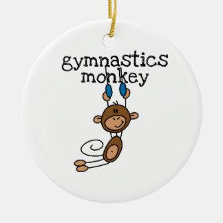 De Aap van de gymnastiek Rond Keramisch Ornament