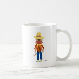De Aap van de Sok van de cowboy Koffiemok