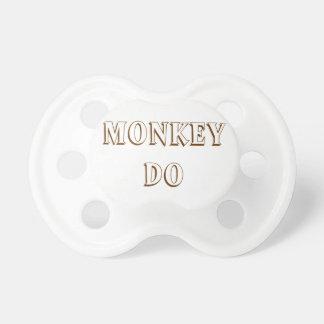 De aap zien & Monkey Do Pacifiers For de Tweelinge Fopspeen