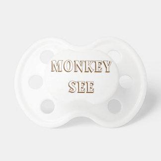 De aap ziet & Monkey Do Pacifiers voor Tweelingen Speentjes